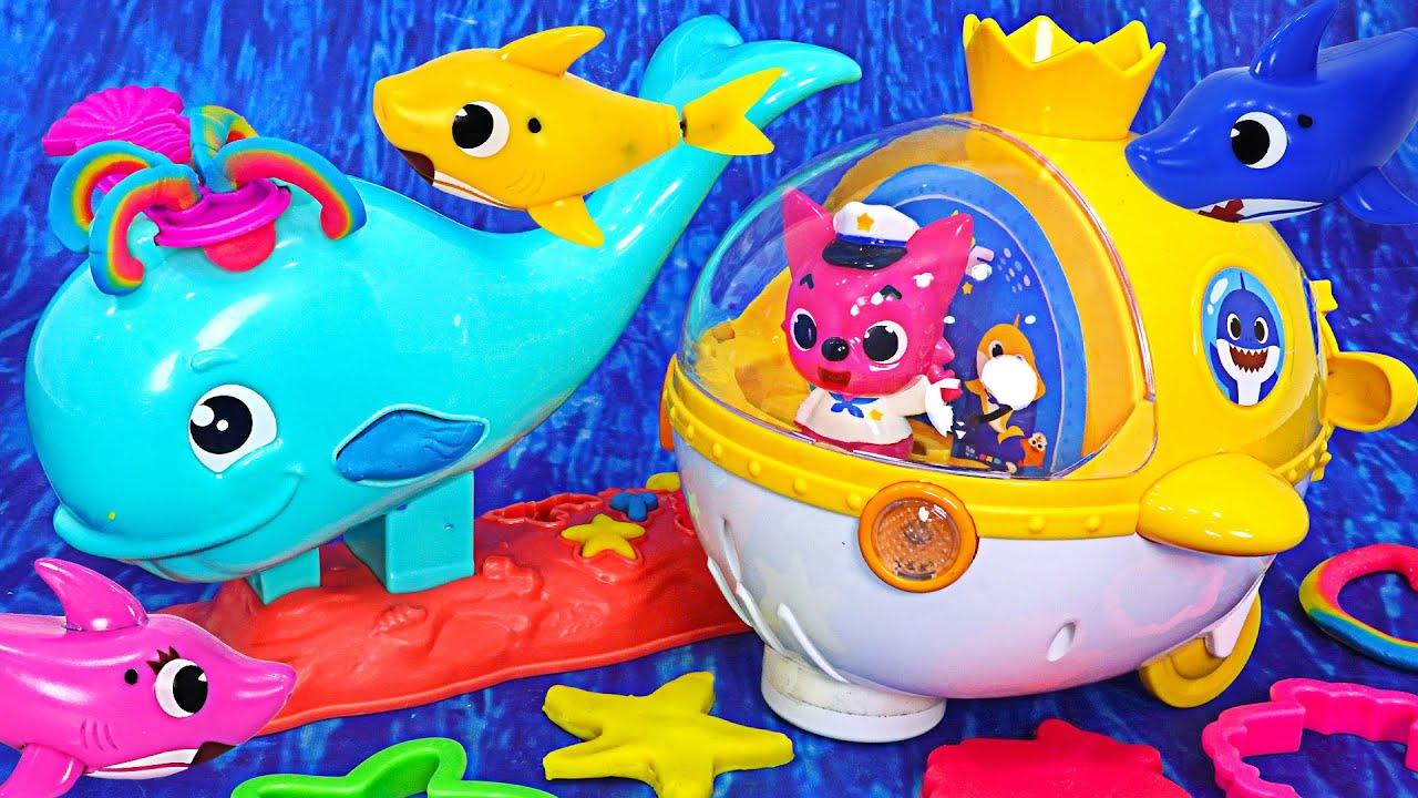 素晴らしい海の中で赤ちゃんサメラング遊ぼう〜楽しいプレイもクジラプレイ!| PinkyPopTOY