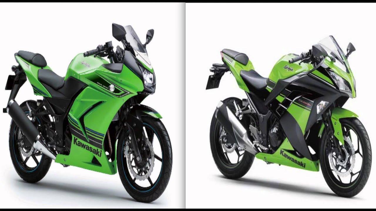 2012 Ninja 250R vs. 2013 Ninja 250R (REVIEW) - YouTube