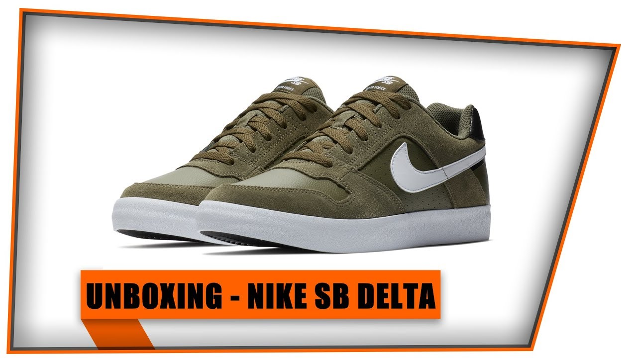 c424dd464a4 UNBOXING DO NIKE SB DELTA FORCE|MOSTRANDO NO PÉ