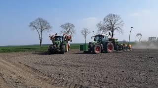 ⚡4 traktory w polu czyli mega akcja kultywacja + siew kukurydzy i nawozu  2019 ✔㋡ Z rozmachem!⚡