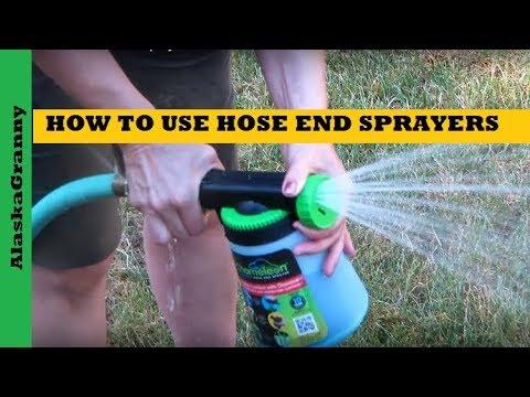 How To Use Hose End Sprayers