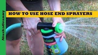 How Use Hose End Sprayers