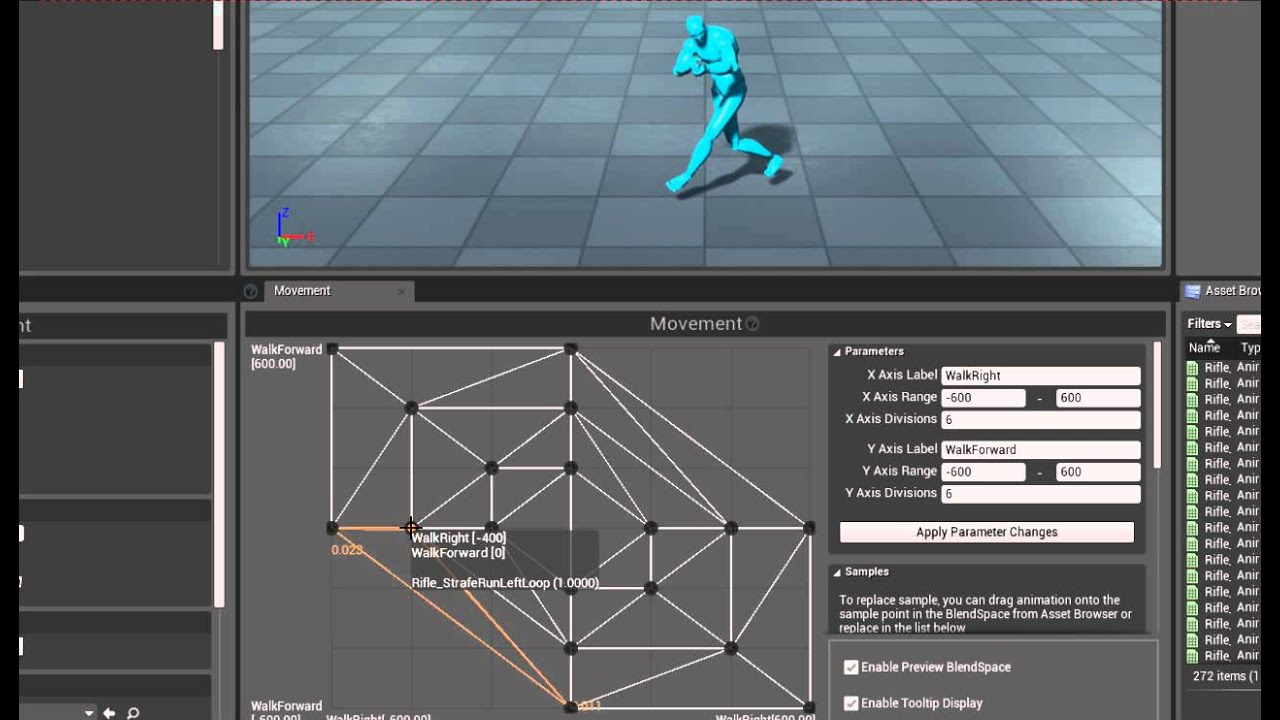 Rifle Animset Pro for UE4 - Movement Blendspace example