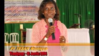 Pr TESAN Monique - Témoignage (Messe du 18 Janv 2014)