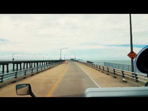 Chesapeake Bay Bridge Tunnel in an 18-Wheeler