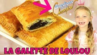 Louane vous propose une recette inédite de galette au chocolat en f...