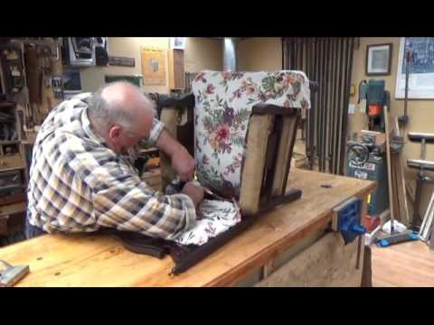 Antique Furniture Restoration how to cover a chair