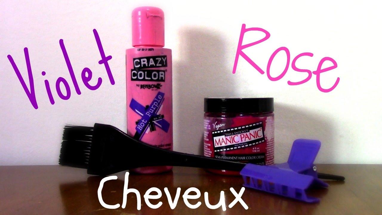 coloration cheveux rose dgrad violet - Coloration Permanente Rose