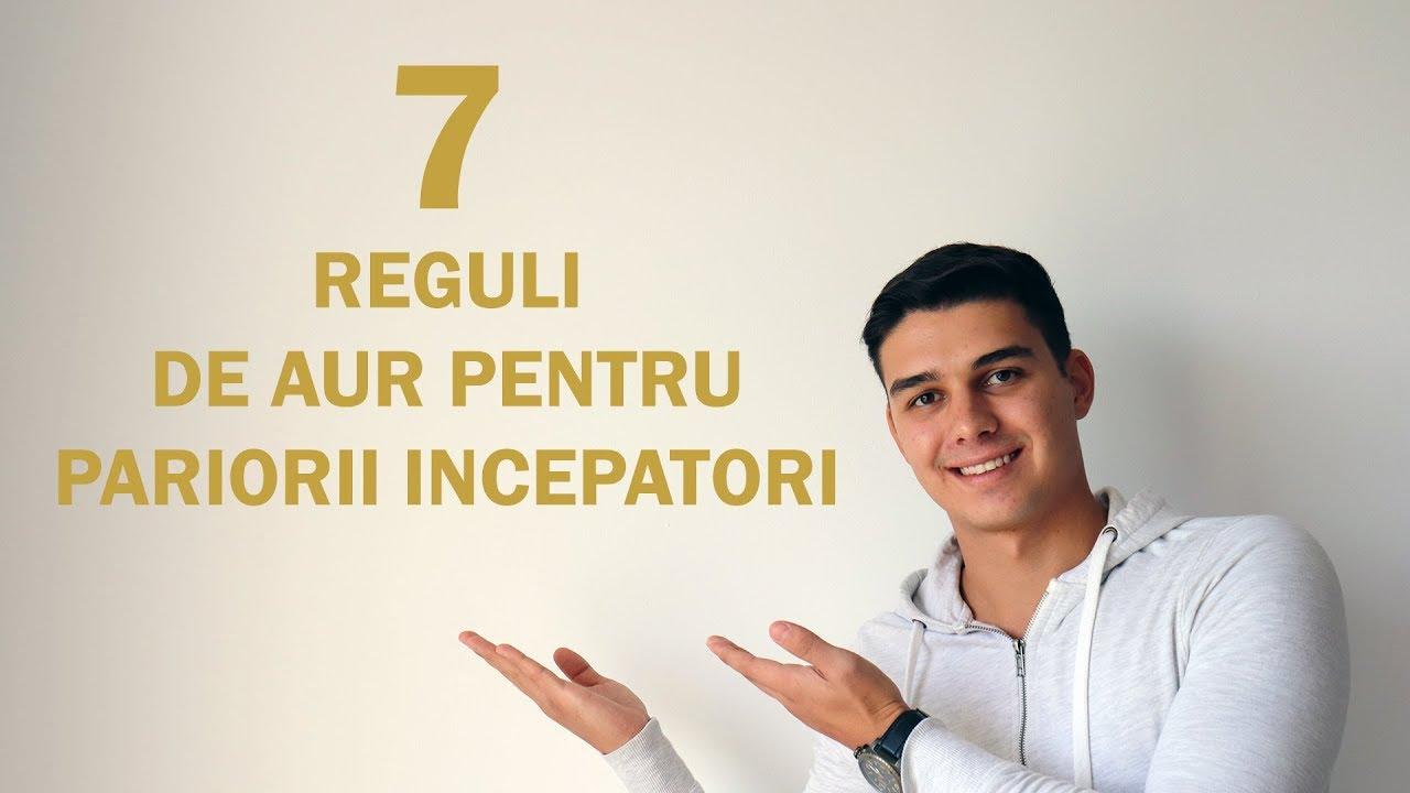 Șapte REGULI DE AUR pentru PARIORII ÎNCEPĂTORI - Andrei Dumitru
