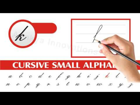 Learn How To Write Cursive Small Letters Step By Step