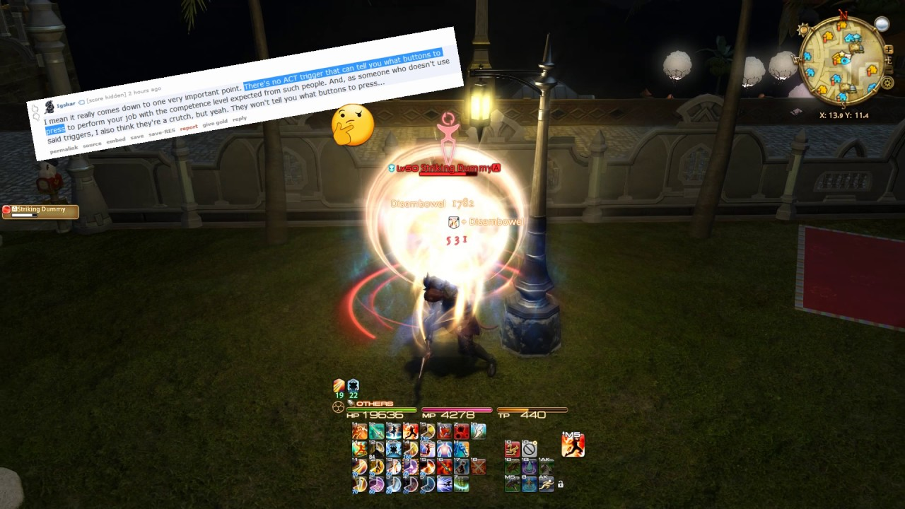 FF14 - Watch for Falling Deeps - 0x A Presses