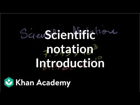 Introduction To Scientific Notation | Pre-Algebra | Khan Academy