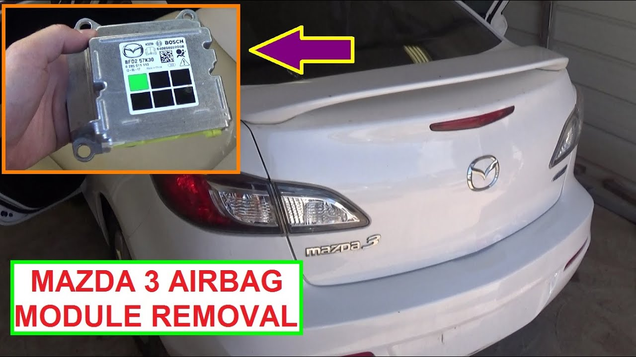 Mazda 3 Airbag Wiring Harness Reinvent Your Diagram Dodge Truck How To Remove And Replace The Module On 2010 2011 Rh Youtube Com Volvo 240 1965 Mustang