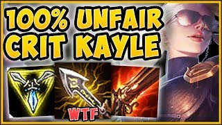 WTF RIOT! HOW IS THIS EVEN FAIR?? FULL CRIT KAYLE TOP IS 100% TOO OP! - League of Legends Gameplay