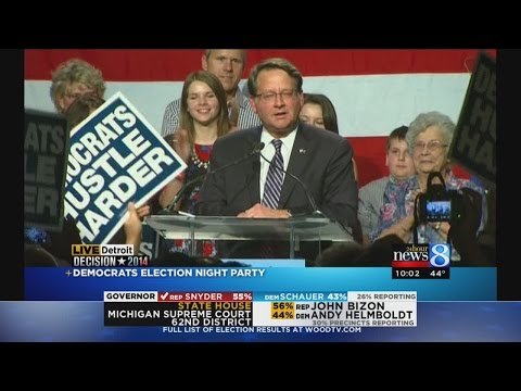 Gary Peters makes acceptance speech
