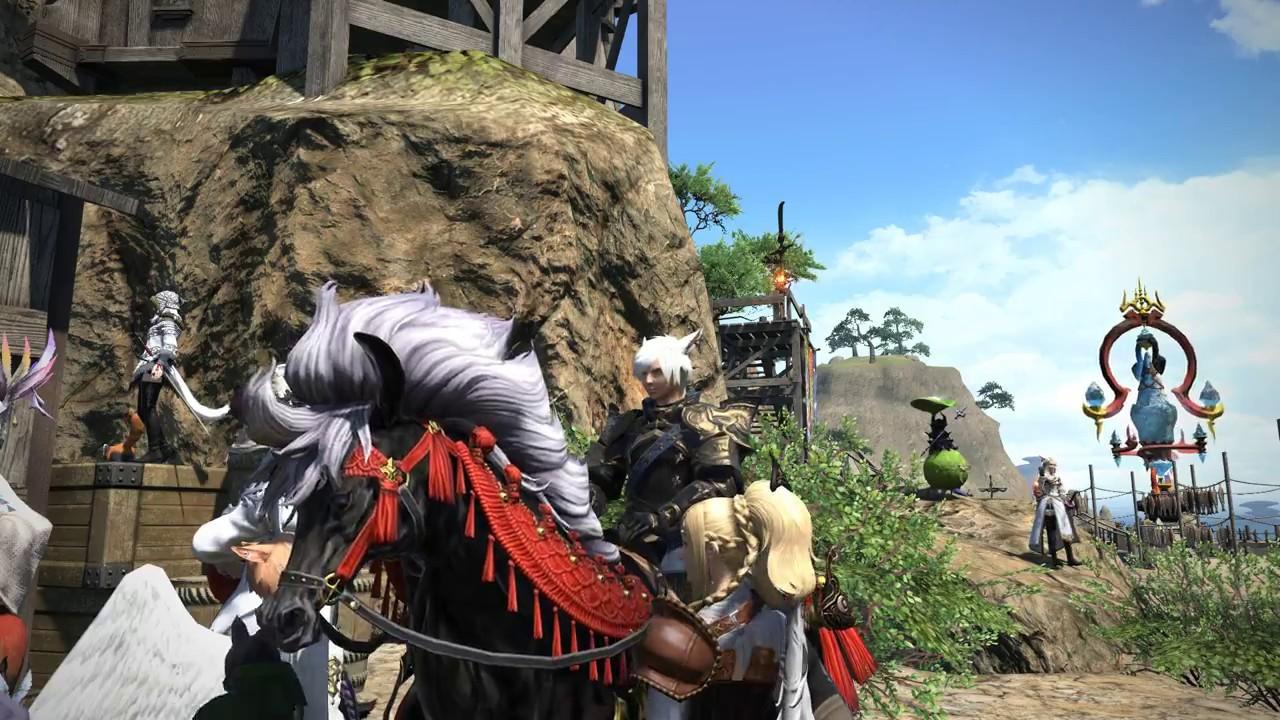 Final Fantasy XIV- Heaven On High horse mount