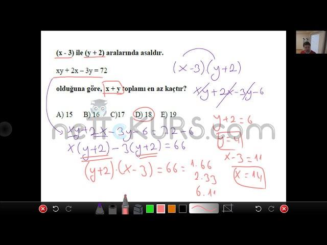 ALES Sayısal - Matematik - Asal Sayılar / nettekurs.com - Uzaktan Eğitim Dershanesi