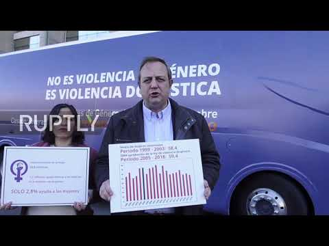 Spain: Bus with anti-gender law message presented in Madrid