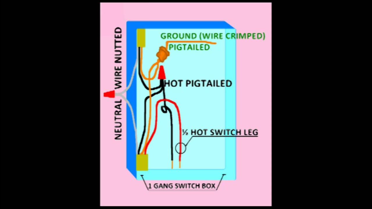 Wiring Diagram For Half Switched Outlet Dual Capacitor Motor How To Wire A Hot Or 87 Youtube