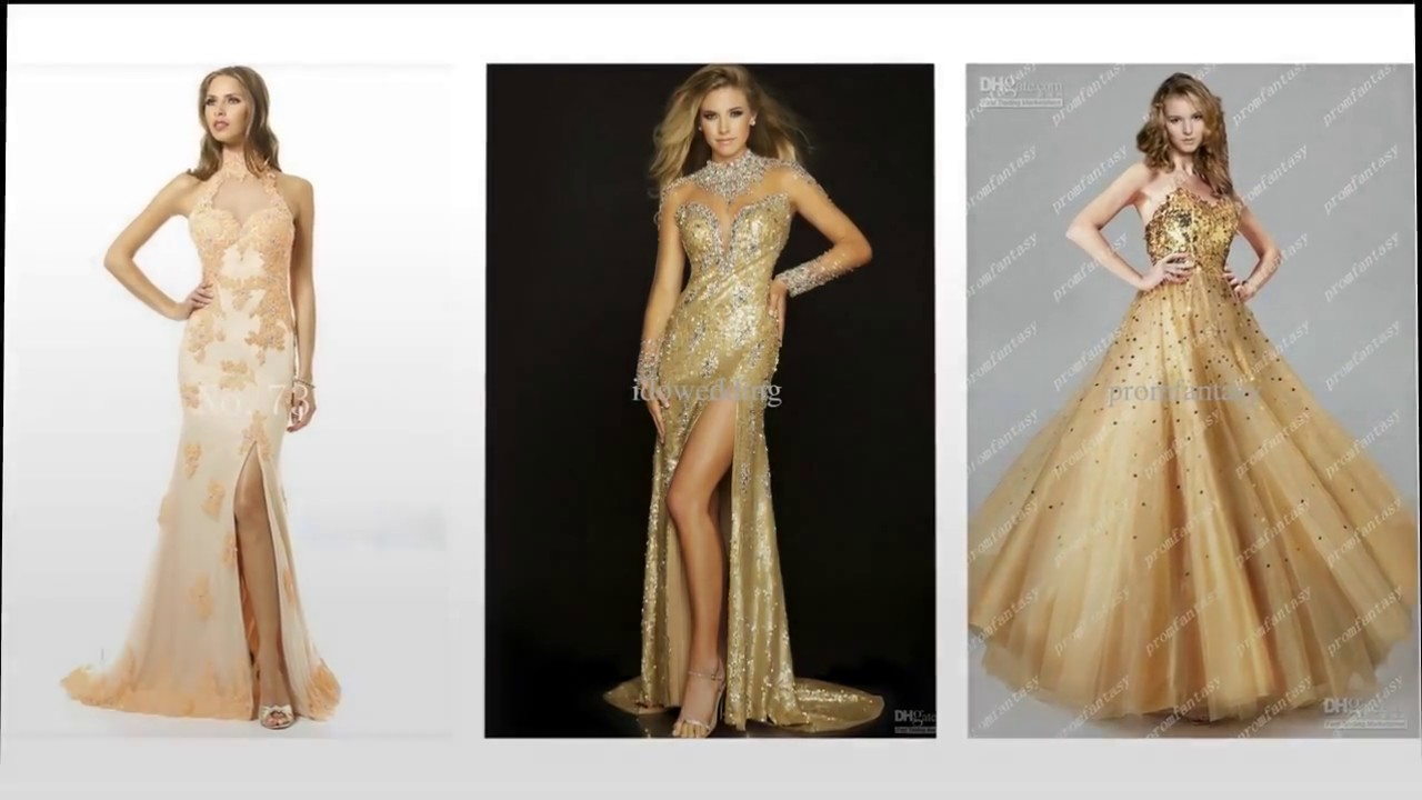 Top 5 Most beautiful gold evening dresses for women