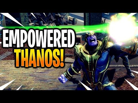 *NEW* EMPOWERED THANOS GAMEPLAY! (ALL INFINITY STONES) - MARVEL Strike Force - MSF