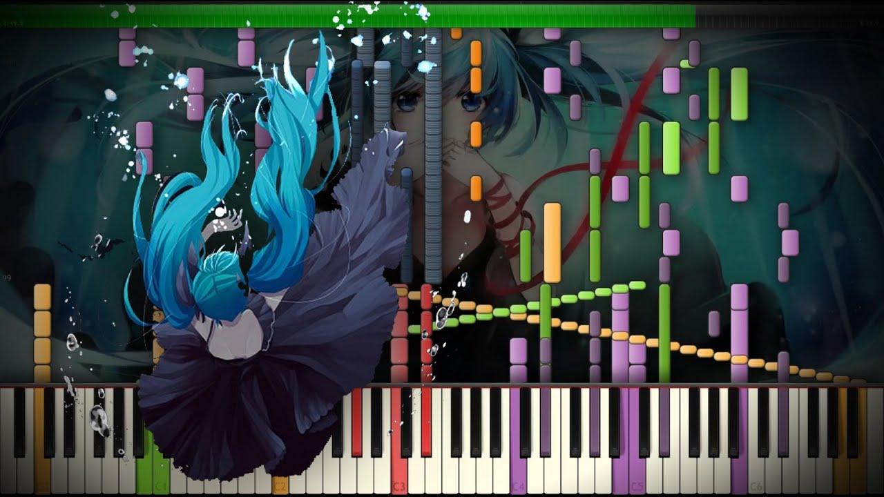 Download Synthesia: Vocaloid / Hatsune Miku - Deep Sea Girl ~ 深海少女   44,000+ Notes   Black MIDI
