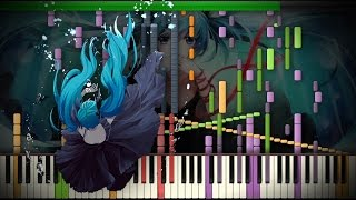 Synthesia: Vocaloid / Hatsune Miku - Deep Sea Girl ~ 深海少女 | 44,000+ Notes | Black MIDI