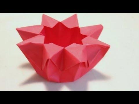 Origami Flower Lantern Youtube