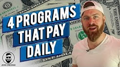 4 Affiliate Programs That Pay Daily