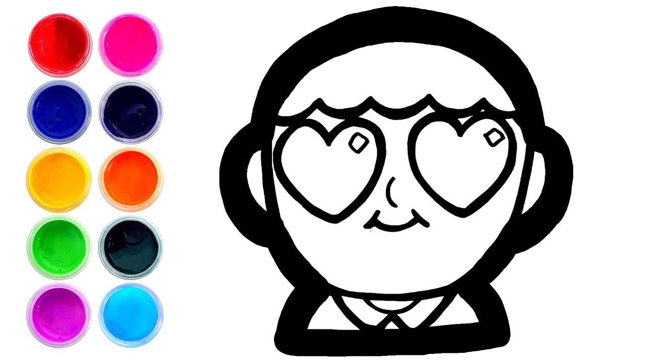 Gambar Emoticon Jantung 5 Warna Warni Belajar Menggambar Dan Mewarnai Untuk Anak