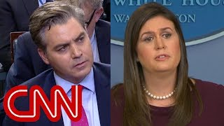 See Sarah Sanders' testy exchange with CNN's Jim Acosta