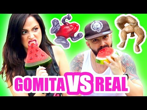 Comida de GOMA vs Comida REAL! Comer RANAS...OH NO! RETO - SandraCiresArt