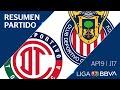 Resumen y Goles | Toluca vs Guadalajara | Jornada 17 - Apertura 2019 | Liga BBVA MX