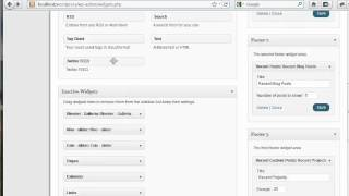 [ThemeForest - Blender Wordpress Theme] - Customize Footer & Sidebars