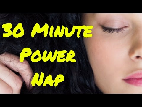 30 Minute Power Nap with Alarm | Sleep Fast Relaxation Music | Isochronic Tones & Binaural Beat