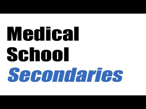 Medical school secondary essays