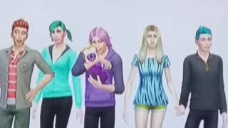 My gacha characters but in the sims-