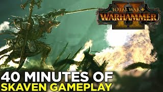 Total War: Warhammer II — 40 Minutes of SKAVEN GAMEPLAY! (No Commentary)