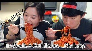 Hot Cheetos + Fire Noodle Challenge | Nikocado Avocado | WARNING Crazy Challenge