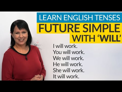 "Learn English Tenses: FUTURE SIMPLE With ""WILL"""