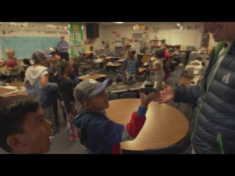 Tanner Foust and VW Surprise Elementary School