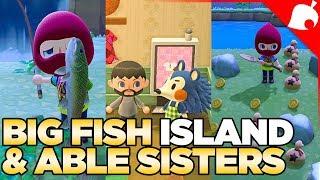 Big Fish Island, The Able Sisters Shop & Money Rock Island - Animal Crossing New Horizons