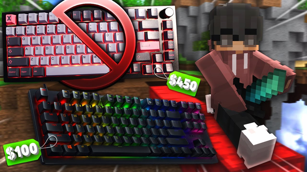 I Replaced my $450 Custom Keyboard with a Gaming Keyboard | Minecraft Bedwars