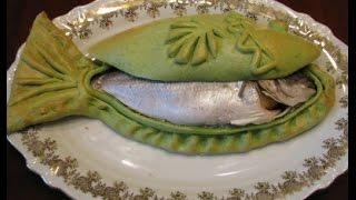 Рыба в соляном тесте