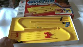 mb games 1982 dragster board game pinball marble action review