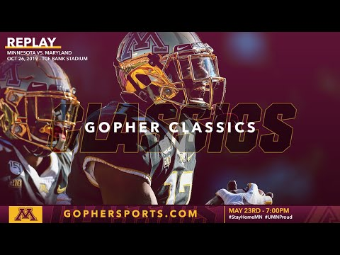 Watch Live: Gopher Football Trounces Maryland 52-10 In Oct. 2019 (Gopher Classics)