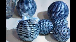 Bola tejida para el arbol de Navidad