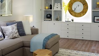 Interior Design – Small Space Makeover: A Bright And Cheerful Basement