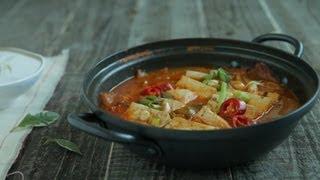 [korean Food] Korean Stuffed Tofu Kimchi Hot Pot, 두부김치전골, Dubu Kimchi Jeongol