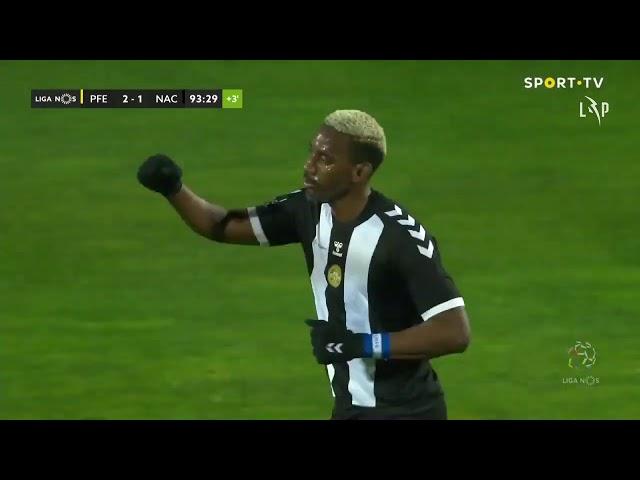 Goal | Golo Rochez: Paços de Ferreira 2-(1) CD Nacional (Liga 20/21 #22)